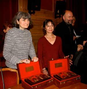 Les lauréates Christine Zeitounian-Belous et Sophie Benech